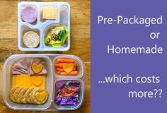 Lunchables packaged lunches or homemade? Which costs more?