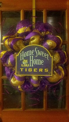 LSU Wreath