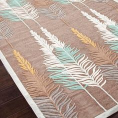 feather rug!! love this design
