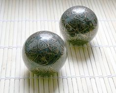 pretty Chinese iron ball. Good for exercising hand, avoiding repetitive strain injury for programers.
