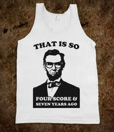 Hipster Abe.