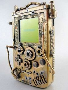 Steampunk Game Boy Cover.