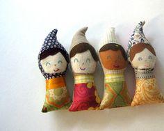 hand-sewn gnome dolls