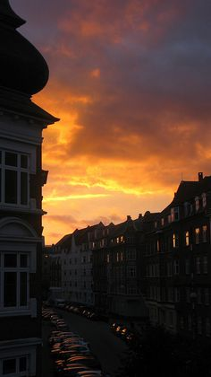 Sunset in Aarhus