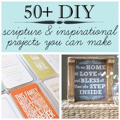 50+ #diy scripture art and inspirational decor tutorials you can make @savedbyloves