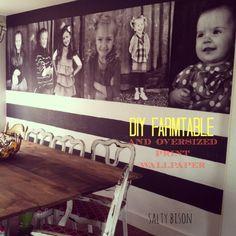DIY Farm Table and Photo Wall Art