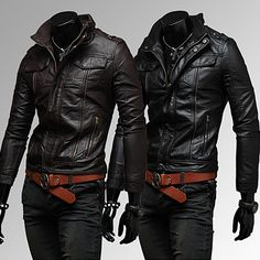 Slim Fit Fashion Men Leather Zip Jacket | Sneak Outfitters