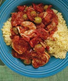 Shrimp With Tomatoes And Olives recipe