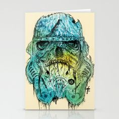 Storm Zombie Stationery Cards by Albert F. Montoya - $12.00