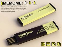 MEMOME USB Flash Drive Concept - It is equipped with an e-ink display which enables you to check the content of the flash drive without the use of a computer.