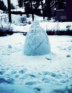 Adventure Time's Ice King Snowman - Best snowman ever!