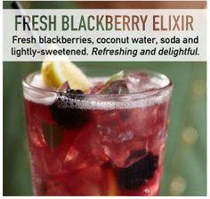 primalkitchen : Spotted via #Bonefishgrill: Blackberry Elixir #cocktail. Coco h2o, blackb's, soda, sweetened (