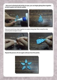 how to quill a termitaria flower