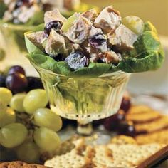 Chicken Salad With Grapes and Pecans!  A terrific #summertime salad!  #chicken #summer #grapes