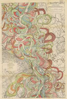 The Alluvial Valley of the Lower Mississippi River   Harold Fisk | graphics