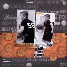 basketball players, sport layout, diy basketball crafts, awesom post, scrapbook idea, basketbal idea, sport scrapbook, boy scapbook, basketbal scrapbook