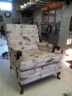 feet chair, greenhous fabric
