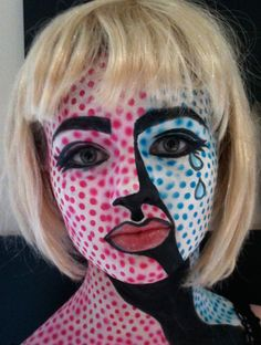 pop art make up on pinterest roy lichtenstein pop art and pop art makeup. Black Bedroom Furniture Sets. Home Design Ideas