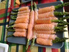 Smoked Salmon Asparagus Wraps