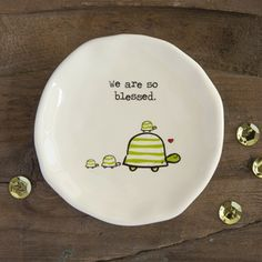 Turtle We Are So Blessed Giving Collection Trinket Dish gift, trinket dish, bless, collect trinket, turtles
