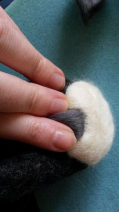 How to needle felt long animal fur