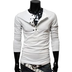 #TheLees (DK13) Mens casual slim fit button point long sleeve tshirts    Please Help Spread The Word Repin Thanks! You Are Awesome! :)