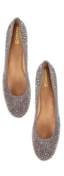 #sparkle sperrys!  Flat Shoes #new #Flat  #Shoes #nice #fashion  www.2dayslook.com