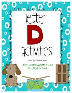 Letter D Activities Preschool and Kindergarten Practice