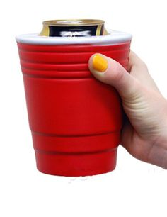 Red Solo Cup Koozie keeps your can at the right temperature $9