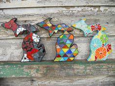 Mosaic Mitten State- #Michigan Wall Art