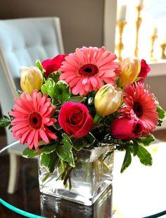 Beautiful floral arrangement.  What stunning colors!