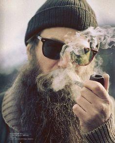@Cass Jordan he's your man. beard / smoke / ray bans