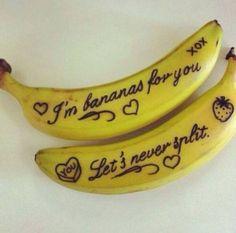 Banana tattoos.