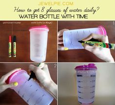 DIY a custom bottle — with deadlines. | 13 Easy Ways To Drink More Water Every Day