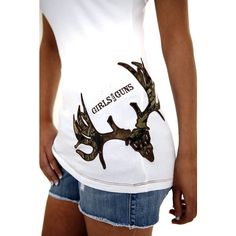 Camo Buck T-Shirt | Shirts | Girls with Guns Clothing found on Polyvore