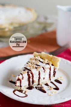 Toffee Marshmallow Pie from www.tasteandtellblog.com