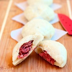 Oh Yeah!                      ....        Pastrami Filled Chinese Steam Buns