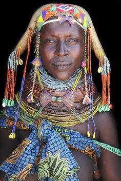 Africa | Thoningele - a wonderful Mumuhuila mother. Angola | ©Mario Gerth