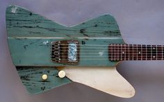 "Michael Spalt ""Gate Guitar Custom Series"" Firebird $5500. Top from an old gate."