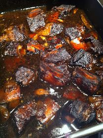 Short Ribs Braised with Apple Cider, Cinnamon, and Garlic