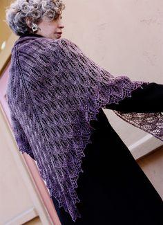 Bitterroot Shawl pattern on Knitty
