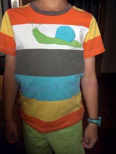 Cosiendo y creando: Camiseta con caracol tapamanchas