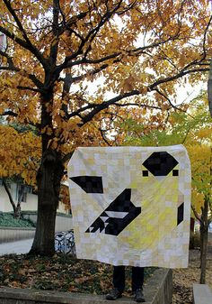 Charley Harper Goldfinch Pixel Quilt | waterpenny quilts and ...
