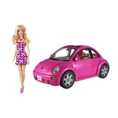 want my  Barbie Volkswagen New Beetle & Doll Set (Toy)