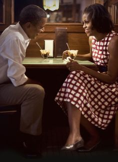 Barack and Michelle Obama <3