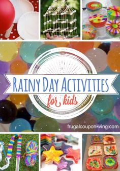 Rainy Day Activity Round-Up for Kids including Crafts, Recipes, Science and Fun! #Pinterest #Summer #RainyDay