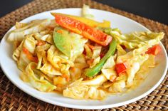 Cabbage Peanut Stir Fry