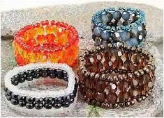 How to Make Ladder Stitch Beaded Ring Tutorials gem journal, bead ring, stitch bead, ring tutori, ladders, stitch ring, beaded rings, bead gem, ladder stitch