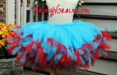 Dr Seuss inspired Pettitutu turquoise tutu with by BaileighGrace, $35.00