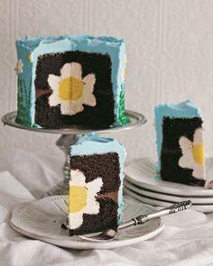 Spring Surprise-Inside Cake by I AM BAKER
